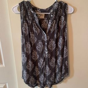 ANTHRO Holding Horses Brown Floral Tank-XS